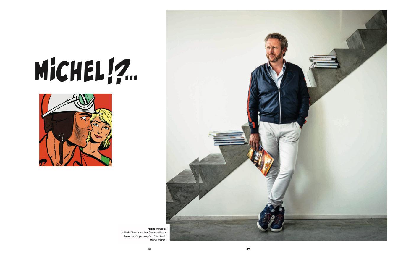 Article sur Michel Vaillant dans la revue Christophorus de Porsche - 1