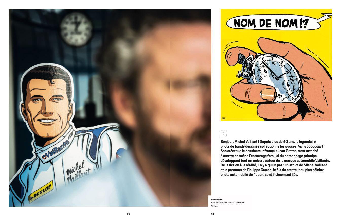 Article sur Michel Vaillant dans la revue Christophorus de Porsche - 2