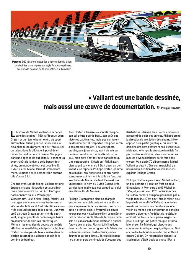 Article sur Michel Vaillant dans la revue Christophorus de Porsche - 4