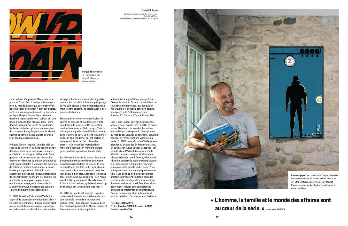 Article sur Michel Vaillant dans la revue Christophorus de Porsche - 5
