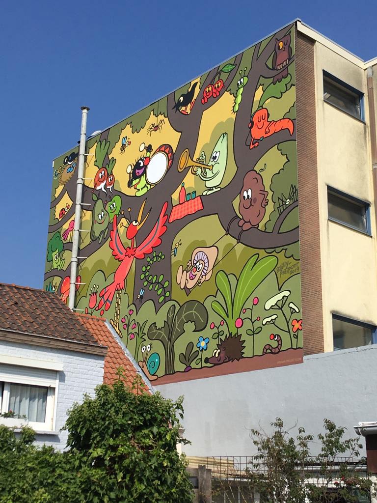 Petit Poilu : une fresque à Bruxelles - 0