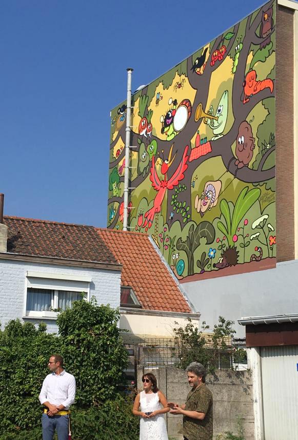 Petit Poilu : une fresque à Bruxelles - 1