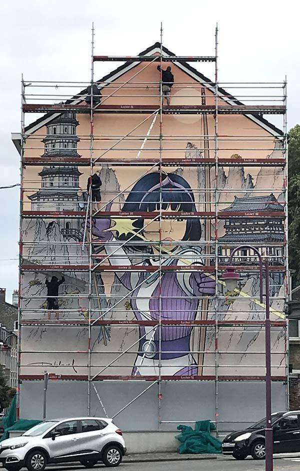 Nouvelle fresque Yoko Tsuno - 1
