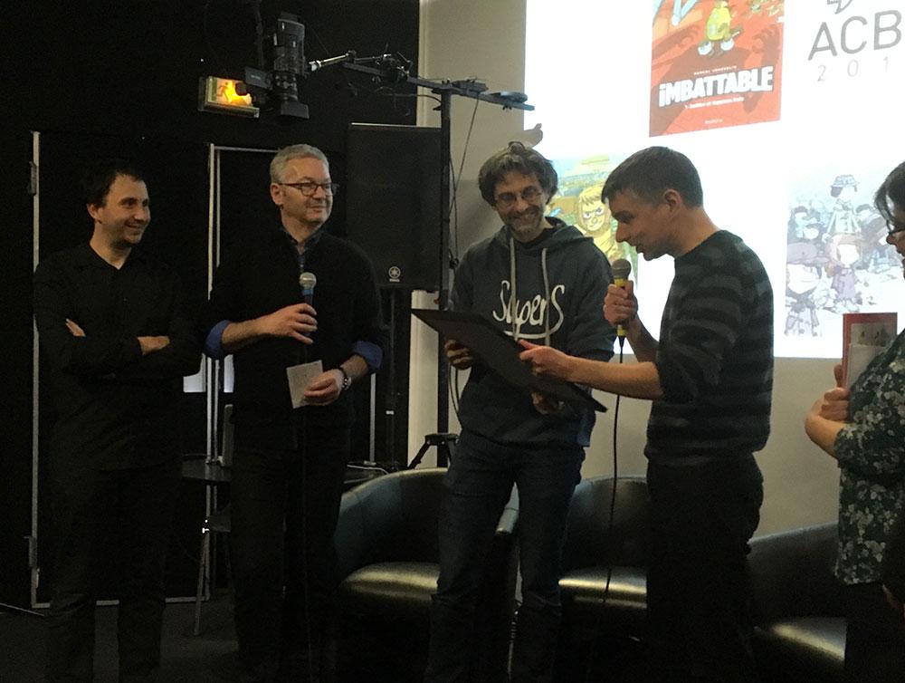 Pascal Jousselin a reçu son Prix Jeunesse-ACBD - 0