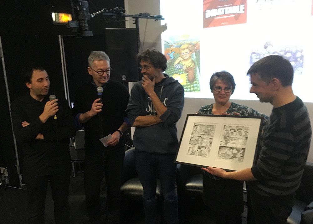 Pascal Jousselin a reçu son Prix Jeunesse-ACBD - 1