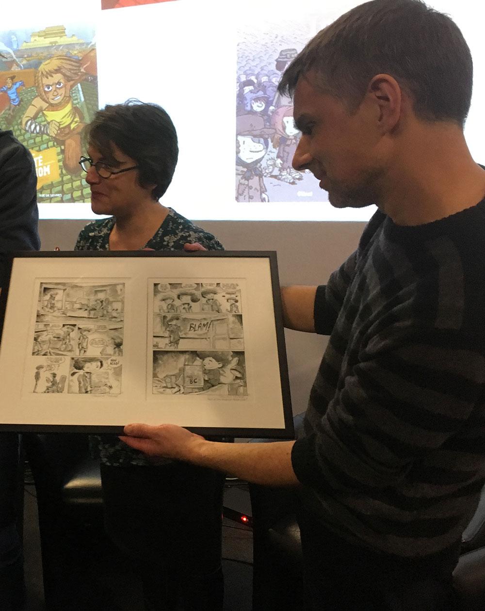 Pascal Jousselin a reçu son Prix Jeunesse-ACBD - 2