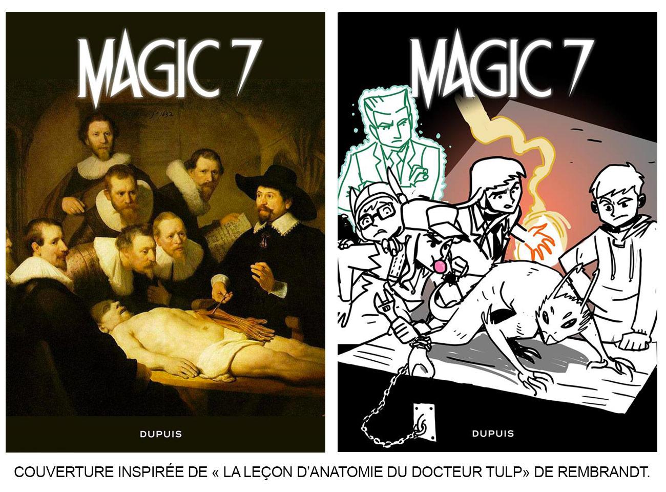 Magic 7, tome 3 : couverture inspirée de Rembrandt
