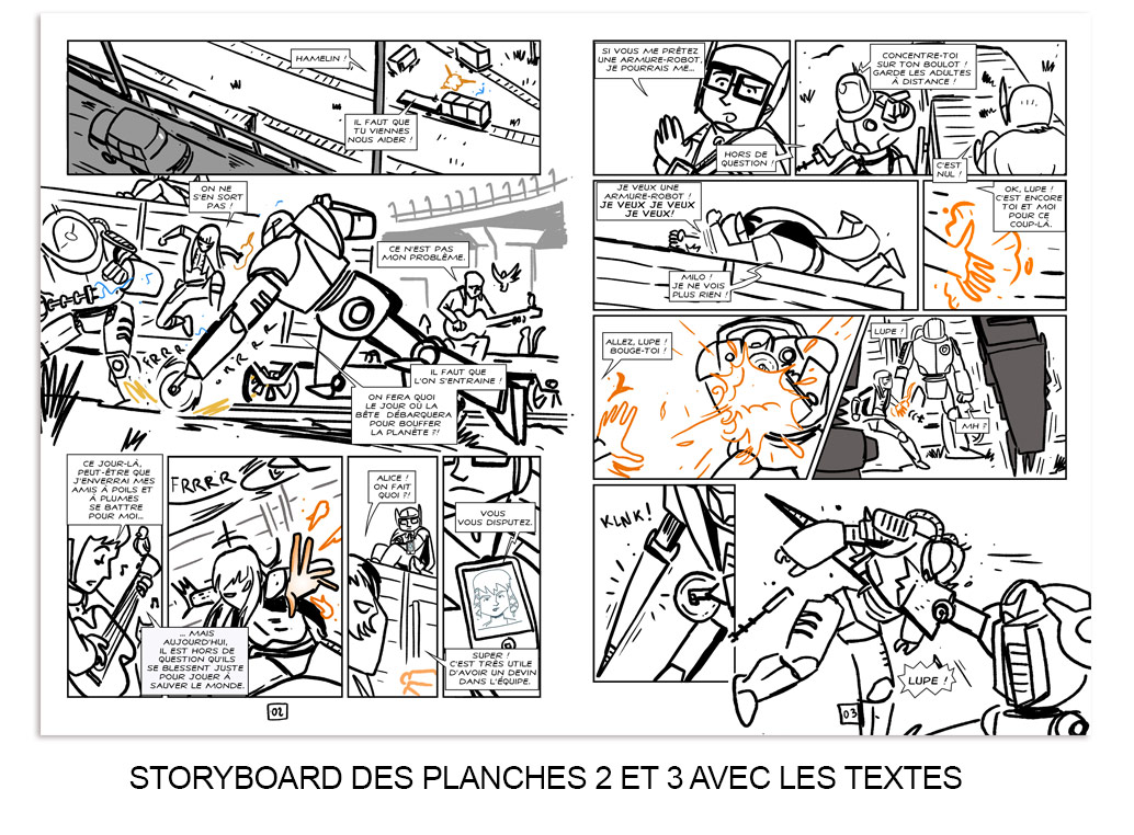 Magic 7, tome 3 : storyboards