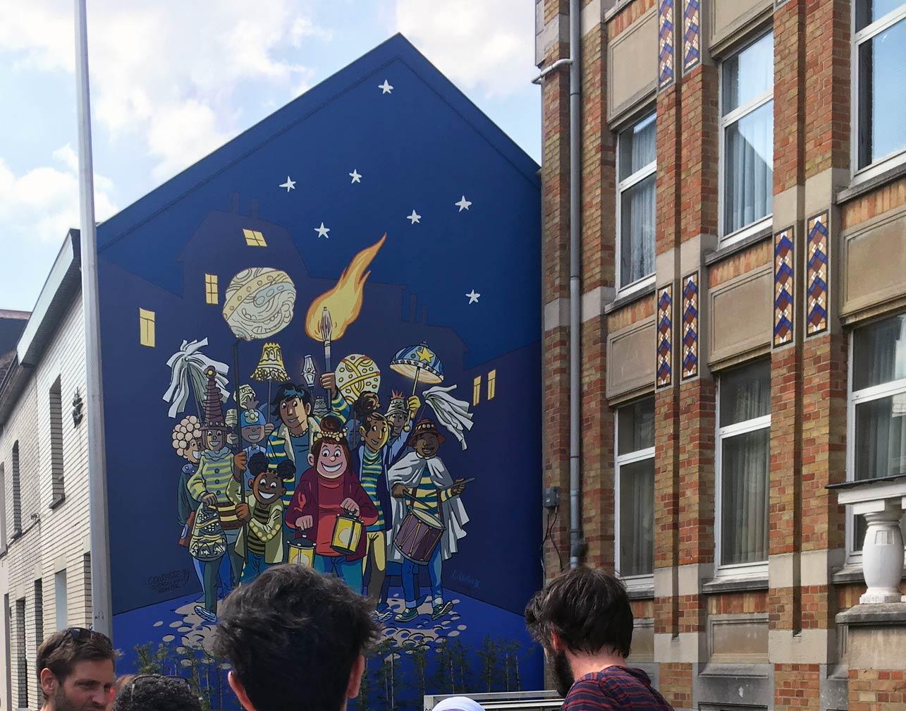 Une fresque Tamara à Bruxelles - 1