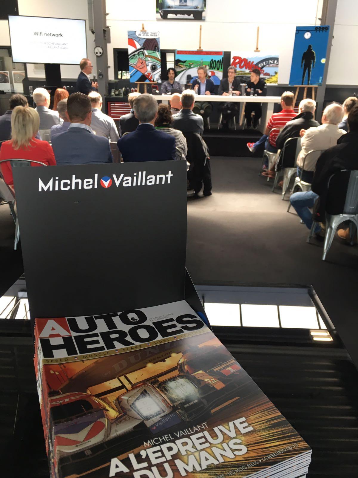 Conférence de presse Michel Vaillant chez Porsche Belgique - 1