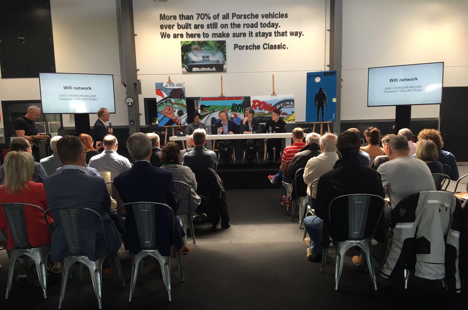 Conférence de presse Michel Vaillant chez Porsche Belgique - 2