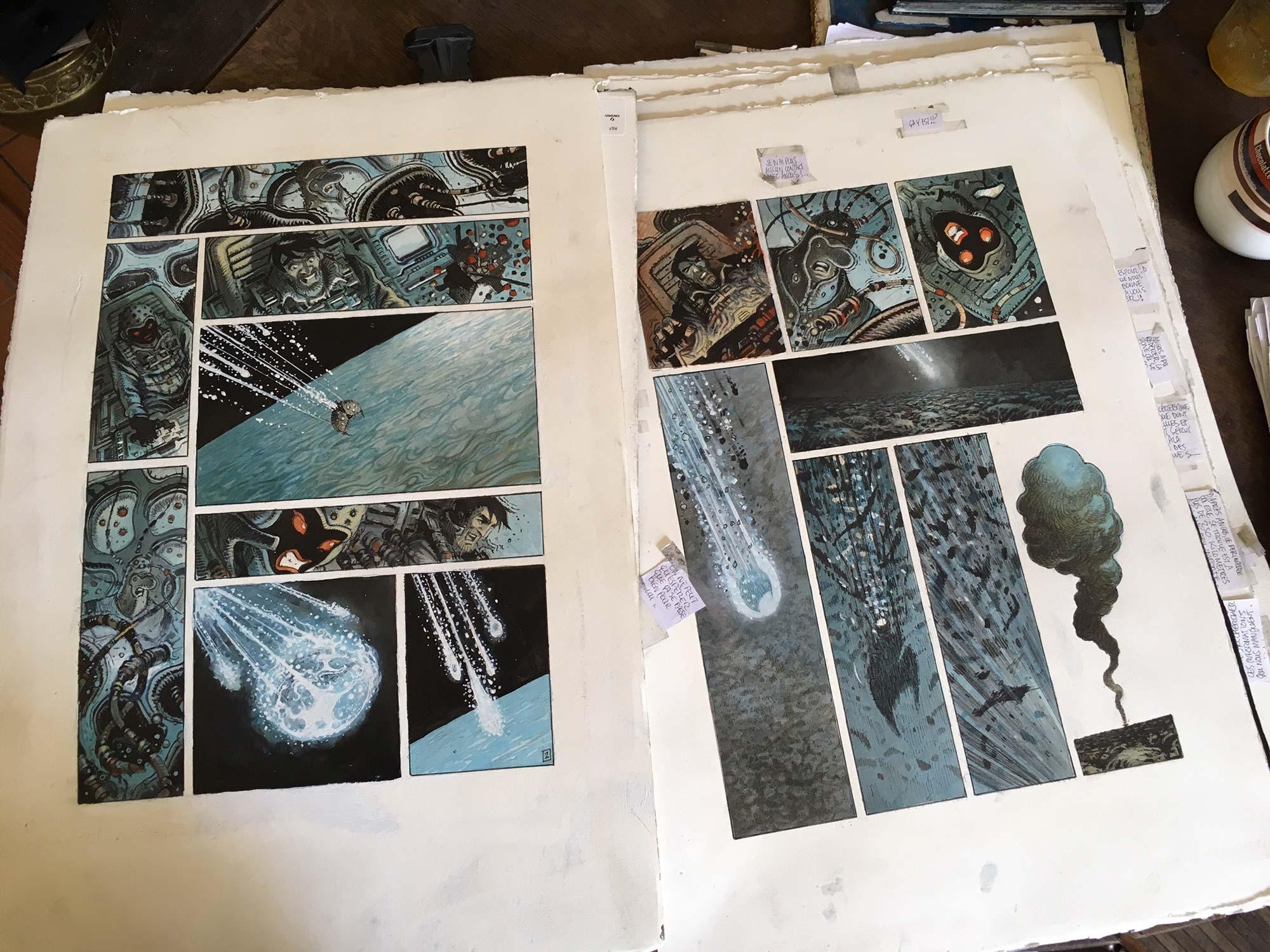 Orbital tome 8 : premières planches couleurs - 2