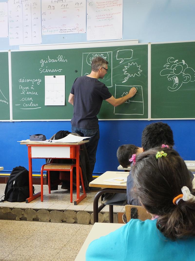 Sylvain Savoia et Fabrice Erre en mission ludo-pédagogique... - 2