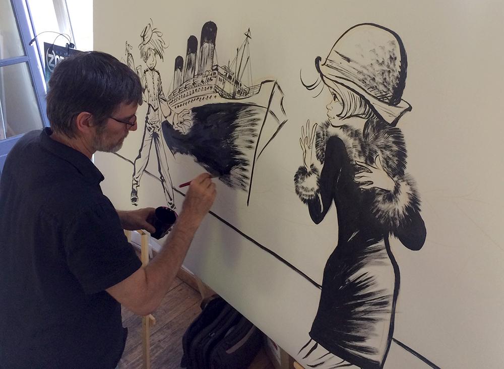 Une fresque réalisée par Laurent Verron - 0