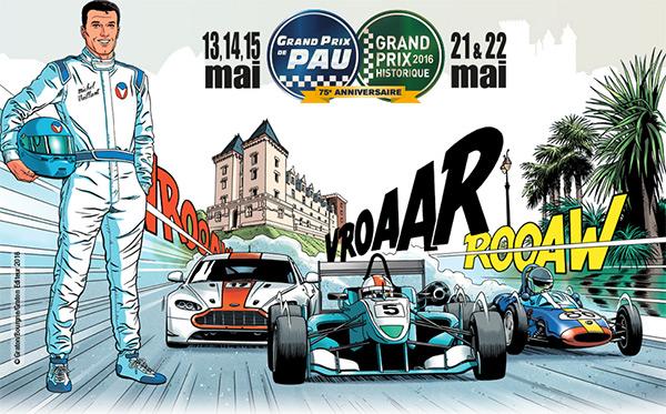 13/05 : Michel Vaillant invité d'honneur du Grand Prix de Pau