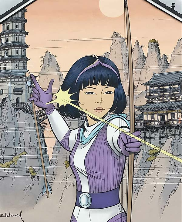 Nouvelle fresque Yoko Tsuno