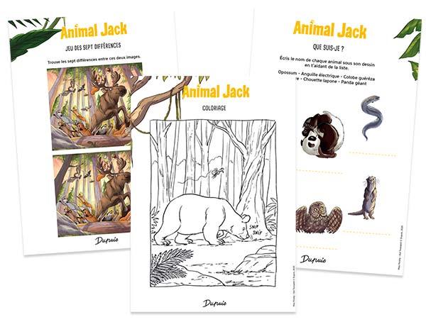 «Animal Jack», Tome 3 : NOUVELLES FICHES PÉDAGOGIQUES !