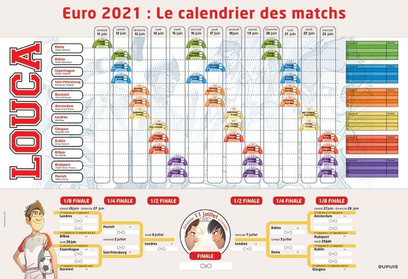 Suivez tous les matches de l'EURO 2021 grâce au calendrier Louca!