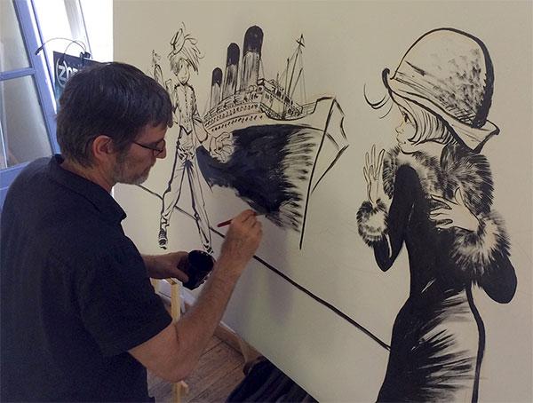 Une fresque réalisée par Laurent Verron