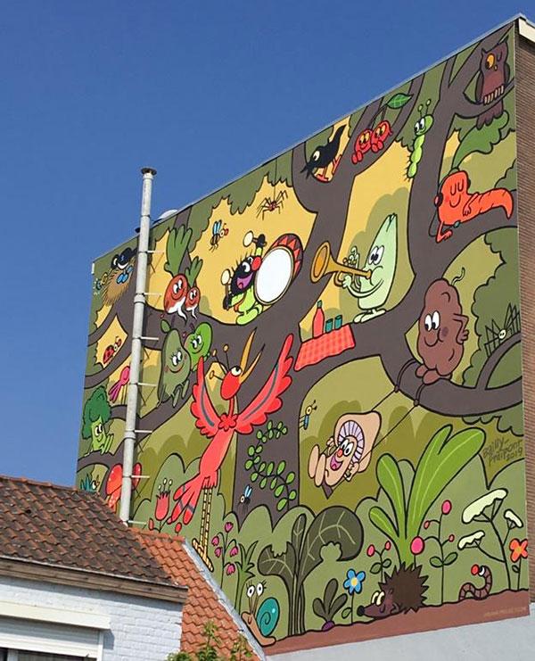 Petit Poilu : une fresque à Bruxelles