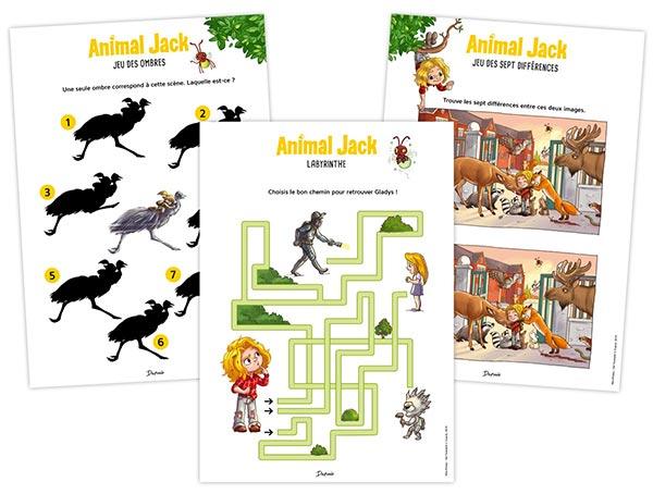 «Animal Jack», Tome 2 : de nouvelles fiches pédagogiques pour les enfants