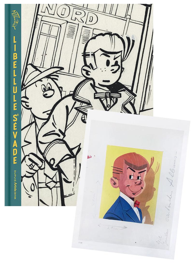 Libellule s'évade + ex-libris grand format