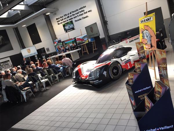 Conférence de presse Michel Vaillant chez Porsche Belgique