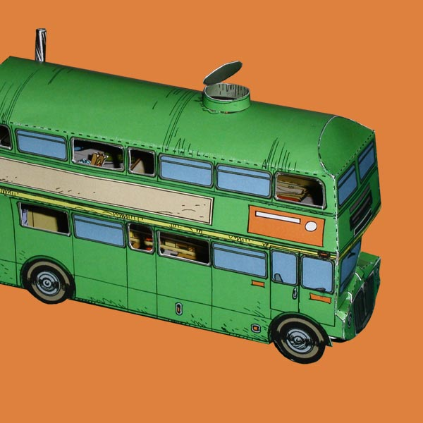 Papertoy Seuls le bus