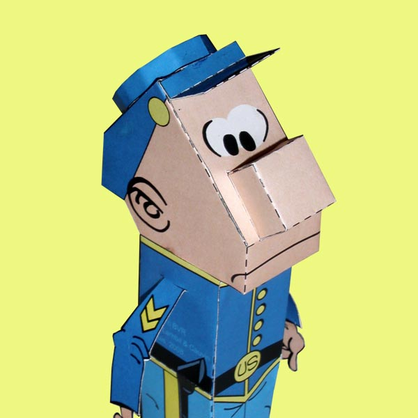 Papertoy Caporal Blutch
